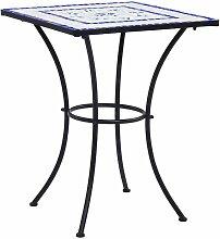 True Deal - Table de bistro mosaïque Bleu et