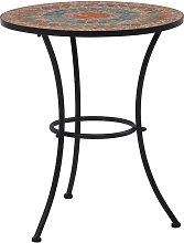 True Deal - Table de bistro mosaïque Orange/gris