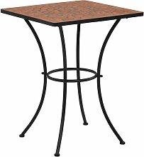 True Deal - Table de bistro mosaïque Terre cuite