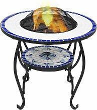 True Deal - Table de foyer mosaïque Bleu et blanc