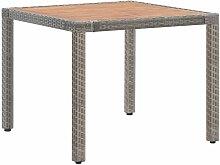 True Deal Table de jardin Gris 90x90x75cm Résine