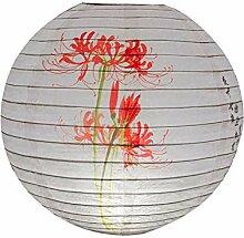 TSBB 30cm Rond Papier Lanterne Abat-Jour Style
