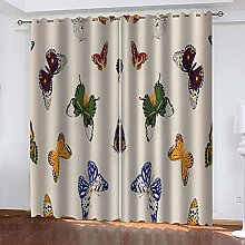 TTBBBB Rideaux Salon Moderne Imprimé Papillon