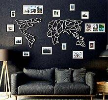 Tubibu Décoration murale moderne 100 % métal