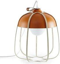 TULL-Lampe baladeuse Métal Ø36,5cm orange beige