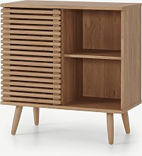 Tulma, meuble cabinet compact, effet chêne