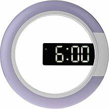 Tuneway LED Miroir Creux Horloges Murales Décor