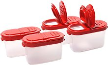 Tupperware Small Spice Shaker (4)pc Set Sheer with