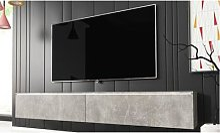 TV Cabinet Kane : 140 cm / Chêne / Avec LED