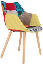 TWELVE - Chaise tissu Patchwork