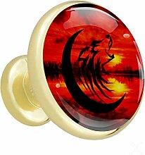 Twilight moon rouge Poignées de tiroir Poignées