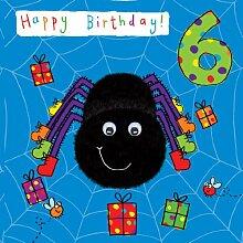 Twizler Carte d'anniversaire 6 ans pour enfant