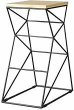 TXXM Tabouret de bar en fer forgé simple Chaise