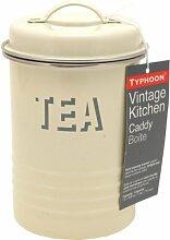 Typhoon Vintage Kitchen Boîte à thé Crème 19,5