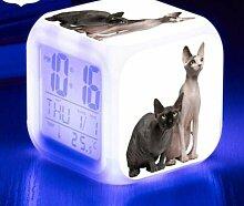 TYWFIOAV 7 Couleurs Clignotant Horloge numérique