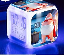 TYWFIOAV Horloge de Bureau Capitaine LED réveil