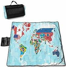 Tyyyy Carte du Monde avec Couverture de