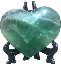 U/D Naturel Fluorite Cristal Stone Heart Heart