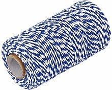Ueetek Cordon de corde de coton Ficelle de 100m