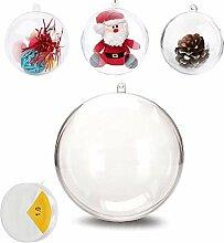 Uhat Lot de 5 grandes boules de Noël vides