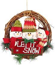 UISY Couronne de Noël, couronne de porte,