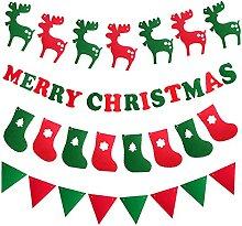 UISY Guirlande de Noël en papier à suspendre -