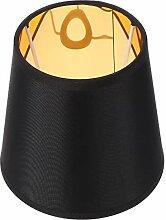UKCOCO Abat-jour en tissu noir - Lampe à ombre