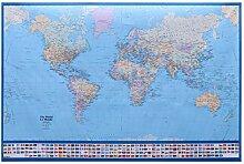 UKCOCO Affiche de Carte du Monde géant Carte