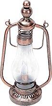 UKCOCO Lampe solaire en fer - Lampe à huile de