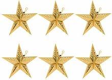 UKCOCO Lot de 6 lampes de nuit Origami Pentagram -