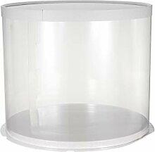 Ukok Boîte ronde transparente pour gâteau,