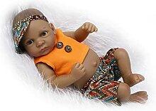 UltraNurtureest Mini 11 Pouces Noir Reborn Baby