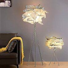 Un Lampadaire + Lampe De Table Avec Abat-jour En
