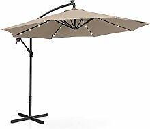 Uniprodo Parasol avec LED Solaire De Terrasse