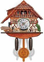 uobaysj Vintage Maison décorative Oiseau Horloge