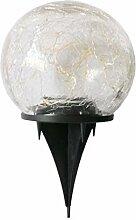 Uonlytech crépuscule solaire boule de verre