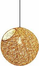 Uonlytech Rotin Pendentif Éclairage Plafond