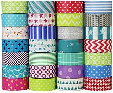 UOOOM 10 Rouleaux Washi Tape Ruban Adhésif Papier