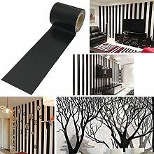 UOOOM 10m x 5cm Noir Washi Tape Ruban Décoration
