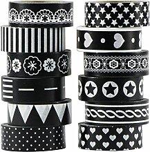 UOOOM 12x Washi Tape Ruban Adhésif Papier