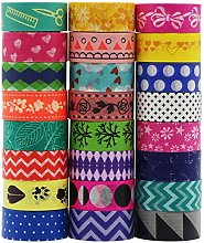 UOOOM 24 Rouleaux Washi Tape Couleurs Vives Ruban