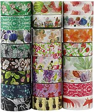UOOOM 24 Rouleaux Washi Tape Ruban Adhésif Papier
