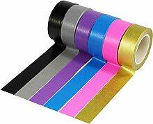 UOOOM 6 rouleaux 10m x 15mm Washi Tape Ruban