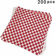 UPKOCH 200 Pcs Rouge Et Blanc Panier Alimentaire
