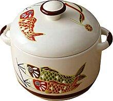 UPKOCH 450Ml Céramique Ragoût Pot avec Couvercle