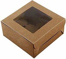 UPKOCH Boîte à cupcakes en papier kraft - 4