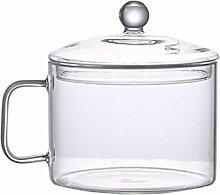 UPKOCH casserole en verre marmite avec couvercle
