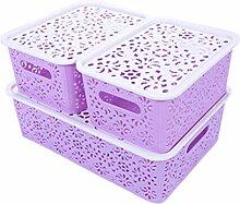 UPKOCH Cubes de Rangement en Plastique Boîte