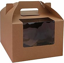 UPKOCH Lot de 10 boîtes à cupcakes portables en