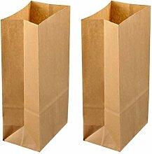 UPKOCH Lot de 50 sacs en papier kraft à fond